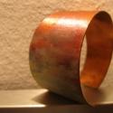 asszimetrikus narancs karkötő , A karkötőt vörösrézből készítettem (fűré...
