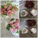 Esküvői egyedi kerámia köszönetajándék-ültető- pohár , Dekoráció, Esküvő, Esküvői dekoráció, Meghívó, ültetőkártya, köszönőajándék, Kerámia, Festett tárgyak, Esküvő előtt sokszor elgondolkozol azon, hogy mi is legyen a köszönetajándék, egy aprócska figyelme..., Meska