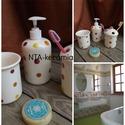 A Te-vidám egyedi kerámia fürdőszoba szetted, Szépségápolás, Otthon, lakberendezés, Szappan, tisztálkodószer, Fürdőszobai kellék, Kerámia, Ha fürdőszobádban a csempéhez  vagy kedvenc színeidhez harmonizáló  fürdőszoba készletet szeretnél,..., Meska