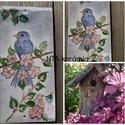 A boldogság kék madara- kerámia Édes Otthon kép, Dekoráció, Otthon, lakberendezés, Baba-mama-gyerek, Utcatábla, névtábla, Kerámia, Mindenhol jó de legjobb OTTHON! Egy hosszú fárasztó nap után mindenki örül ha végre beléphet otthon..., Meska