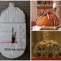 Magyar címer-kerámia óra, Otthon, lakberendezés, Dekoráció, Magyar motívumokkal, Falióra, óra, Kerámia,