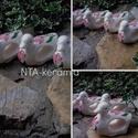 Kerámia 6db-os kacsás szalvétagyűrű készlet, Baba-mama-gyerek, Konyhafelszerelés, Dekoráció, Húsvéti apróságok, Kerámia, Festett tárgyak, Fehér agyagból,mázalatti festékkel,egészségre ártalmas anyag mentes mázzal készítettem ezt a 6 dara..., Meska