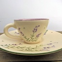 Levendulás kávés csésze, Dekoráció, Konyhafelszerelés, Otthon, lakberendezés, Bögre, csésze, Kerámia, Festett tárgyak,   Szeretem a levendulát. Az illatát, a színét, a hangulatot, amit áraszt. 1 kis kávé levendulás rom..., Meska