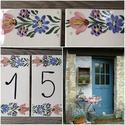 Kerámia tulipános házszámtábla 3.200 Ft/db, Egy jól megválasztott ház vagy utcanévtábla k...