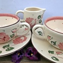 Egy tea veled romantikus rózsásan, Dekoráció, Konyhafelszerelés, Esküvő, Bögre, csésze, Romantikus rózsát szeretőknek. Kiknek a lelkük mindig vidám. Akik az egyszerű harmonikus dolgo..., Meska