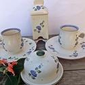 Kékfestő  hosszú kávés  2 személyes készlet, Kékfestő....hangulatos 2 személyes. Fehér agya...
