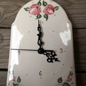 Rózsás -csipkés  romantikus kerámia óra, Az idő értékes dolog - Nézd, hogy repül, ahog...