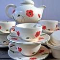 Pipacs imádóknak teás készlet, A borúra    derű.....  6 személyes teáskészle...