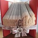 Szeretlek könyvszobor, Dekoráció, Szeretlek könyvszobor, Meska