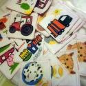 memóriakártya, Baba-mama-gyerek, Játék, Készségfejlesztő játék, Társasjáték, 12 pár- azaz 24 db-os textil memória kártya. Fő előnye a moshatóság, nem szakad, nem gyűröd..., Meska