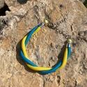 Twist karkötő sárga kék színben, Rendkívül nőies karkötő, melyet két színű ...