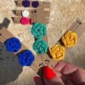 Bedugós fülbevaló, Gyönyörű színekben microcord zsinórból kész...