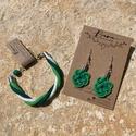 Zöld szett, A fülbevaló elkészítésénél két zöld szín...
