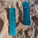 Türkiz fülbevaló, 6cm és 4cm hosszú 1cm széles réz fülbevaló. ...