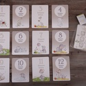 Babakártya/ Mérföldkőkártya- Unisex, Gyerek & játék, Baba-mama kellék, Fotó, grafika, rajz, illusztráció, Szeretnéd megörökíteni gyermeked növekedését?  Akkor használj a hónapforduló alkalmával a fotózásho..., Meska