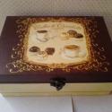 Chocolate..., Ez egy 20X15X8 cm-es antikolt vintage dobozka (tea...