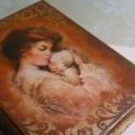 Édesanyának..., Dekoráció, Férfiaknak, Magyar motívumokkal, Otthon, lakberendezés, Könyvdoboz... anyának, nagymamának... emlékeknek... Mérete: 24X18X9cm, Meska