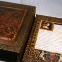 Kódex... Mathias Rex..., Dekoráció, Férfiaknak, Magyar motívumokkal, Otthon, lakberendezés, Mátyás corvinái ihlették ezt a könyvdobozt... mely barnára pácolt, gazdagon díszített, aranyozott és..., Meska