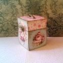 Ékszeres..., Dekoráció, Ékszer, Otthon, lakberendezés, Tárolóeszköz, Rusztikus dobozka... Mérete: 13,5X8,5X7,5 cm  Különleges formájú antikolt dobozka... gyönyörű tároló..., Meska