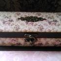 Antik tolltartó... , Dekoráció, Otthon, lakberendezés, Tárolóeszköz, Doboz, Antikolt tolltartó csak hölgyeknek... A tolltartó mérete: 21X7,5X5 cm, Meska