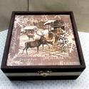 Erdei karácsony..., Ez egy 17X17X8 cm-es barna/bézs dobozka... ami so...
