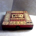 Kis és nagy kártyásoknak..., Dekoráció, Férfiaknak, Játék, Otthon, lakberendezés, Ez egy 14,5X14,5X3 cm nagyságú kártyadoboz... Jó játékot! :), Meska