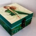 Tinilányos... , Dekoráció, Otthon, lakberendezés, Ékszer, Tárolóeszköz, 4 rekeszes dobozka... elegáns tiniknek... és az ő ékszereiknek, apró titkainak... A dobozt Bella Pil..., Meska