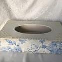 """""""Les fleurs"""" zsebkendő/ törlőkendő tartó..., Otthon, lakberendezés, Dekoráció, Tárolóeszköz, Elegáns, shabby stílusú zsebkendő, vagy törlőkendőtartó...  Mérete: 26x13x8 cm, Meska"""