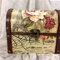"""Voyage Paris..., Dekoráció, Otthon, lakberendezés, Ékszer, Ékszertartó, """"Utazóládika"""" hölgyeknek... ékszereknek... Mérete:16,5x12,5x10 cm, Meska"""