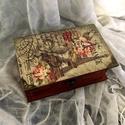 Voyage Paris..., Dekoráció, Otthon, lakberendezés, Tárolóeszköz, Apró könyvdoboz...   Mérete: 16x10x6 cm, Meska