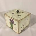 Levendulás..., Otthon, lakberendezés, Nyár illatú levendulás dobozka... Mérete:12x12x10 cm, Meska