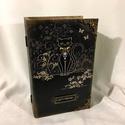 Cat's meow... , Dekoráció, Ékszer, Ékszertartó, Elegáns macskák... elegáns tulajdonosainak... A könyvdobozban ékszereket, leveleket, és emlékeket is..., Meska