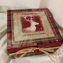 Szarvas... , Dekoráció, Karácsonyi, adventi apróságok, Ünnepi dekoráció, Karácsonyi dekoráció, 4 rekeszes dobozka az illatos mézeskalácsoknak... karácsonyi meglepetéseknek... Kedves ajándéka lehe..., Meska