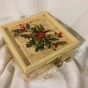 Klasszikus karácsony..., Dekoráció, Karácsonyi, adventi apróságok, Karácsonyi dekoráció, Egy... a régi karácsonyokat idéző ajándékdoboz... ajándékok csomagolására és átadására készült klass..., Meska