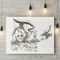 Süniverzum (16/15), Képzőművészet, Grafika, Rajz, Illusztráció, Festészet, Saját gyermekkönyvem illusztrációinak művészi printjeit ajánlom figyelmetekbe. Az eredeti rajzokat ..., Meska