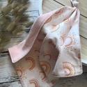 Rózsaszín szivárványos csomózott rongyi, Plüssbársonyból és puha textilből készült a...