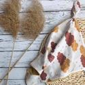 Barna-mustársárga csomózott rongyi, Plüssbársonyból és puha textilből készült a...