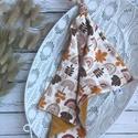 Őszi faleveles csomózott rongyi, Plüssbársonyból és ősz falevél mintás dupla...