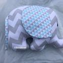 Elefánt textil figura - babajáték - elefántos babaszoba - marokállat - puha játék - figurapárna, babajáték, menta, Baba-mama-gyerek, Játék, Baba játék, Plüssállat, rongyjáték, Aranyos kislány elefánt figura a legkisebbek számára, ami igazán babakezekbe való.  Olyan textil fig..., Meska