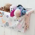 DOBLE kollekció Falra szerelhető textil tároló, függő tartó kétféle textillel, Otthon, lakberendezés, Magyar motívumokkal, Bútor, Ha kicsi a lakás és kevés a helyed, szerelj falra tárolót, s pakolj bele. Ennyire egyszerű a hely sp..., Meska