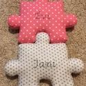 Puzzle párna szett - formapárna - dekorációs párna - ülőpárna - játszószőnyeg - NAGY méretű összeilleszthető párna, Puzzle formájú párna szettet készítettünk, a...