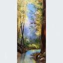 Olajfestmény , Képzőművészet, Festmény, Olajfestmény, Festészet, Vissza a természetbe 40x16cm, olaj farostlemezre, Meska