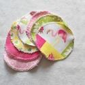 """""""Flamingó"""" mosható arctisztító korong csomag (7 darab) , Szépségápolás, Egészségmegőrzés, Fürdőszobai kellék, Szeretnél tenni valamit Földünk védelméért? Használj környezetbarát, mosható arctisztító korongot!  ..., Meska"""