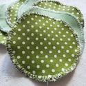 """""""Zöld pöttyös"""" mosható arctisztító korong csomag (7 darab) , Szépségápolás, Egészségmegőrzés, Fürdőszobai kellék, Szeretnél tenni valamit Földünk védelméért? Használj környezetbarát, mosható arctisztító korongot!  ..., Meska"""