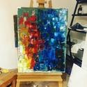 Colors olajfestmény, Képzőművészet, Festmény, Olajfestmény, Olajfestmény, 60x80 cm fakeretre feszített vászon, nem igényel keretezést., Meska