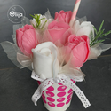 Virágcsokor koktél, Otthon & Lakás, Szappankészítés, Illatos szappanvirág dekoráció. Az elegáns csokrok kiváló minőségű szappanokból, parfüm minőségű il..., Meska