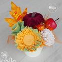 Őszi szappanvirág dekoráció vödörben, Otthon & Lakás, Dekoráció, Szappankészítés, Illatos szappanvirág dekoráció. Az elegáns csokrok kiváló minőségű szappanokból, parfüm minőségű il..., Meska