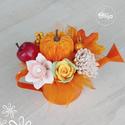Őszi szappanvirág dekoráció locsolókannában, Otthon & Lakás, Dekoráció, Szappankészítés, Illatos szappanvirág dekoráció. Az elegáns csokrok kiváló minőségű szappanokból, parfüm minőségű il..., Meska