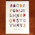 Állatfigurás ABC gyerekeknek, A4 színes nyomat, Dinó ABC, Print, Gyerekszoba dekoráció, Dekoráció, Baba-mama-gyerek, Kép, Fotó, grafika, rajz, illusztráció, 26 betűből álló, kézzel rajzolt ABC, kedves, vicces karikatúra figurákkal. Saját grafikáimból készü..., Meska
