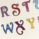 Szörnyes ABC gyerekeknek, A4 színes nyomat, Print, Gyerekszoba dekoráció, Baba-mama-gyerek, Gyerekszoba, Baba falikép, Fotó, grafika, rajz, illusztráció, 26 betűből álló, kézzel rajzolt ABC, kedves, vicces karikatúra figurákkal. Saját grafikáimból készü..., Meska